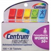 Centrum Silver Mulher 50+ (Women)   Multivitamínico   120 cápsulas
