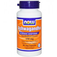 ASHWAGANDHA 450MG (Ginseng Indiano) - 90 cáps. - NOW FOODS