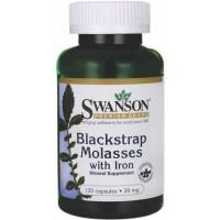 Melaço de Blackstrap c/ ferro 29mg - Swanson - 120 caps.