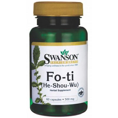 Fo-ti 500mg (He-Shou-Wu)  - Swanson - 60 caps.