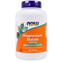 Malato de Magnésio - 1000mg - 180 tablets - NOW FOODS