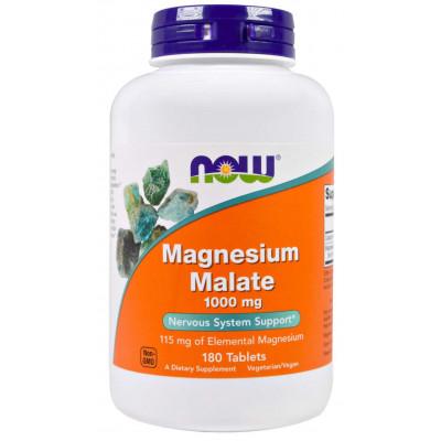 Malato de Magnésio - 1000mg - 180 tablets - NOW FOODS