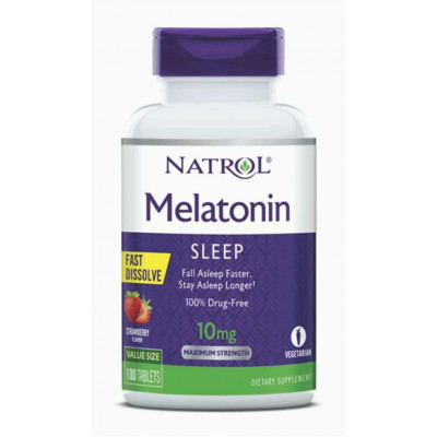 Melatonina sublingual 10mg - Natrol - 100 tablets