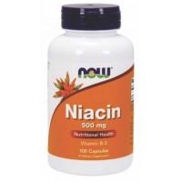 Niacina/Vitam. B-3 (Niacin)  500mg - 100 Cáps - Now Foods