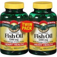 Óleo de peixe + Omega 3 ( Twin Pack = embalagem com 2 unidades)