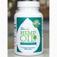 Óleo de canhamo (oleo Hemp) 1000 mg, 120 cápsulas