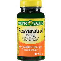Resveratrol 250mg - 30 softgels - Marca Spring Valley