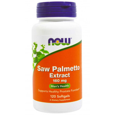 Saw Palmetto Extract 160mg - 120 Softgels - Now Foods