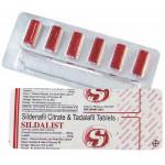 Estimulante Masculino 120mg (Sildalist) - cartela com 6 comprimidos