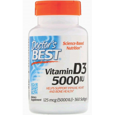 Vitamina D3 5.000 ui  c/ 360 Softgels - Doctor's Best