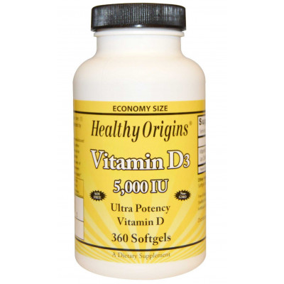 Vitamina D3 5.000 ui -360 Softgels - Marca Healthy Origins