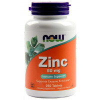Zinco 50mg - 250 Tablets - Now Foods